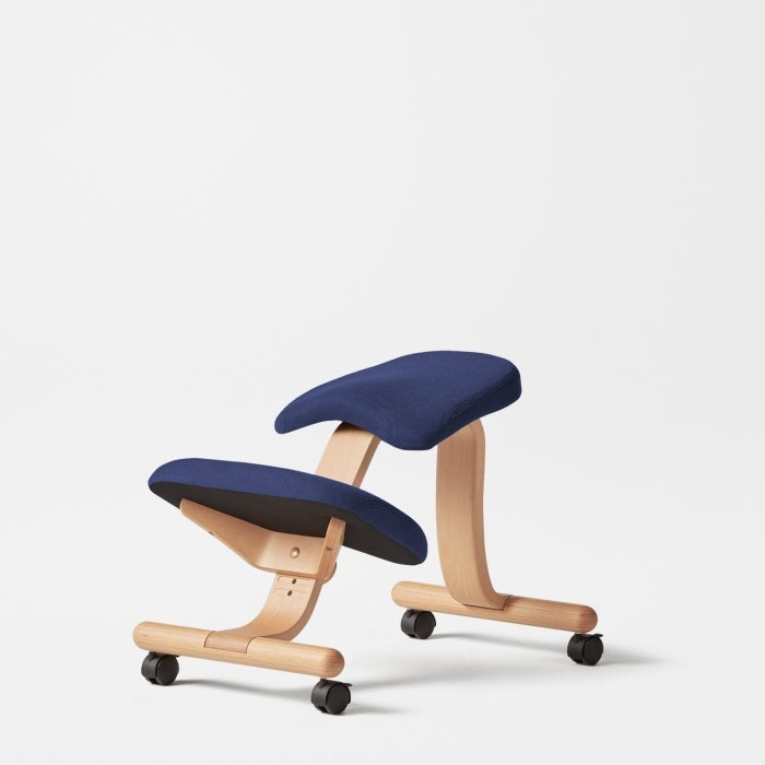 fully balans kneeling chair without back blue