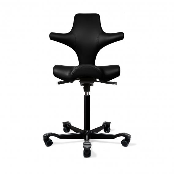 fully capisco ultra sound chair by hag onyx vinyl black base