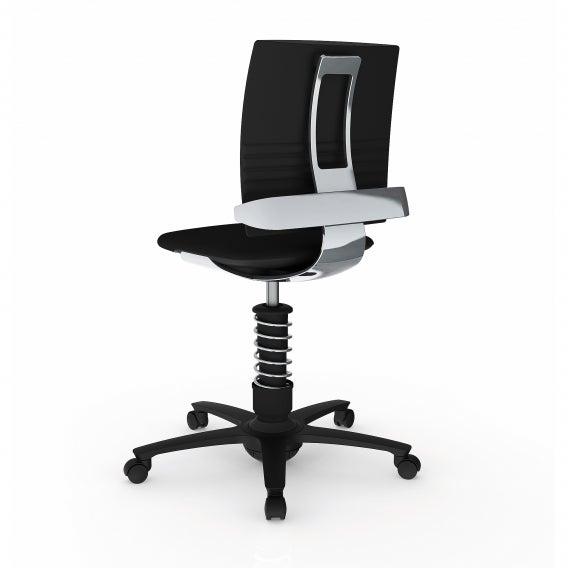 fully 3dee active chair by aeris black microfiber