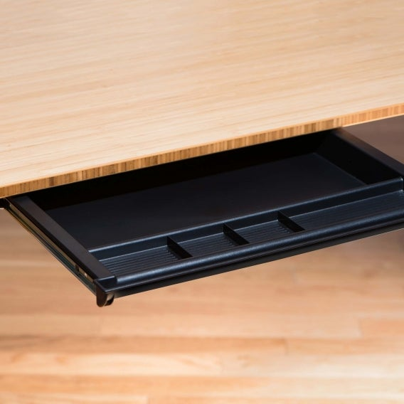 fully desk drawer mounted to jarvis desk open detail view