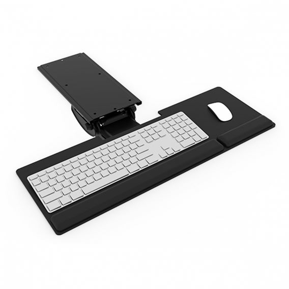 fully esi allfit keyboard tray with keyboard and mouse