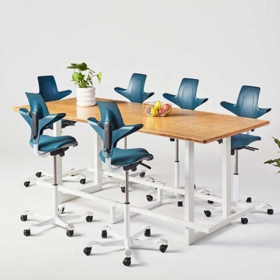 Jarvis Bamboo Adjustable-Height Conference Table