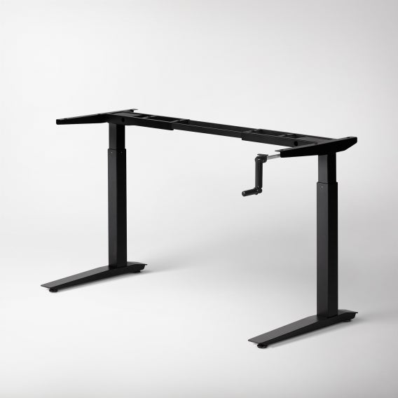 fully jarvis crank powered standing desk frame only black