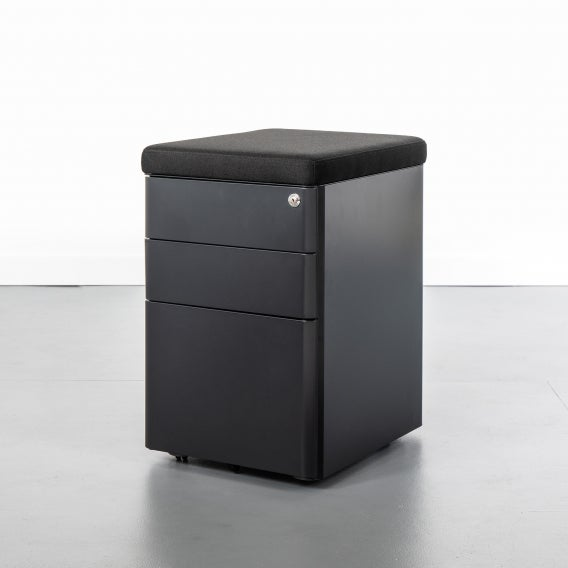 Able file cabinet black with cushion