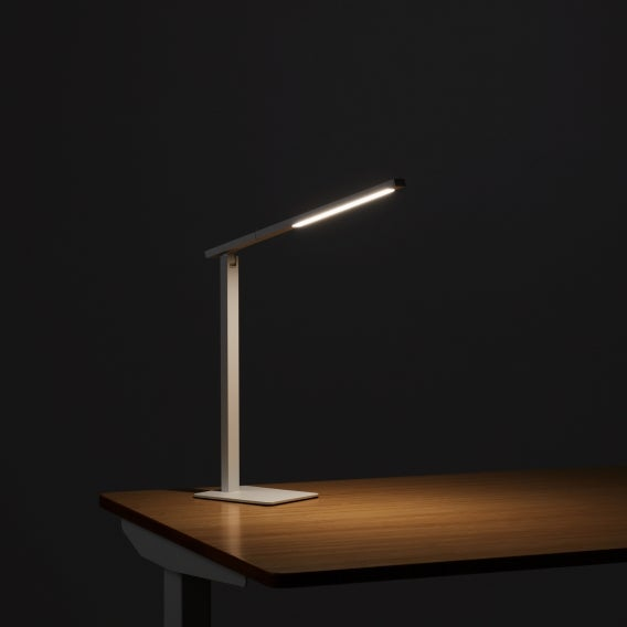 Fully Aleris Desk Lamp White Illuminated