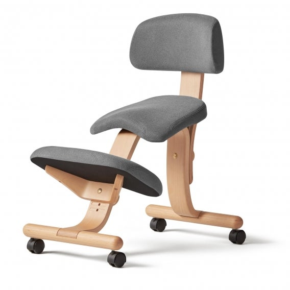 fully balans kneeling chair gray