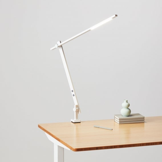 fully beam led desk lamp on jarvis desk white clamp