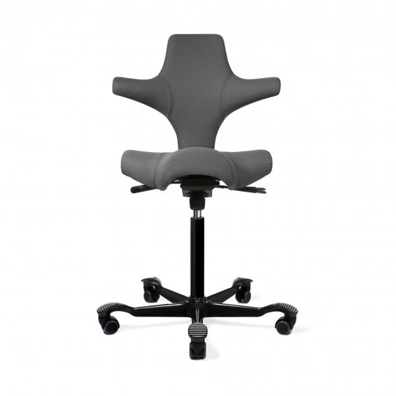 fully capisco chair by hag grey eco polyester black base