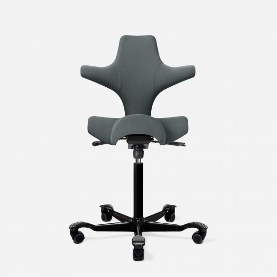 Capisco chair by HAG era-poly slate with black base