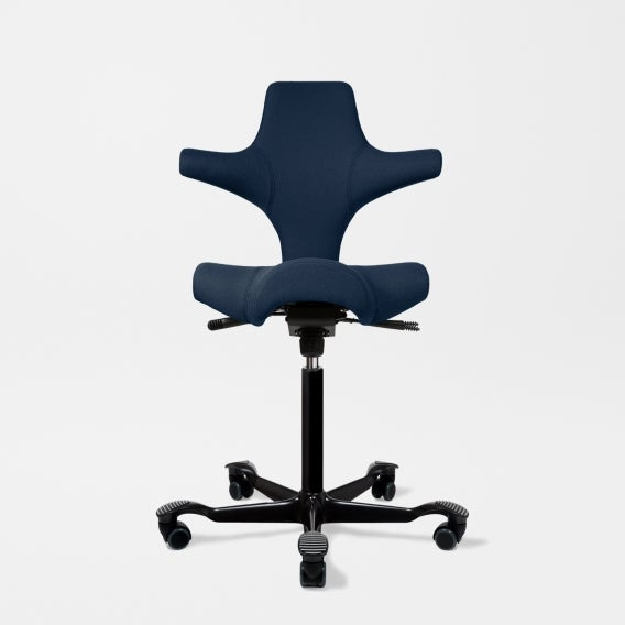 fully capisco chair by hag sapphire eco polyester black base