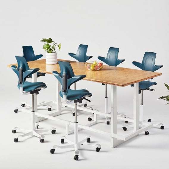fully capisco puls plus by hag sprint fathom with white bases with jarvis conference table