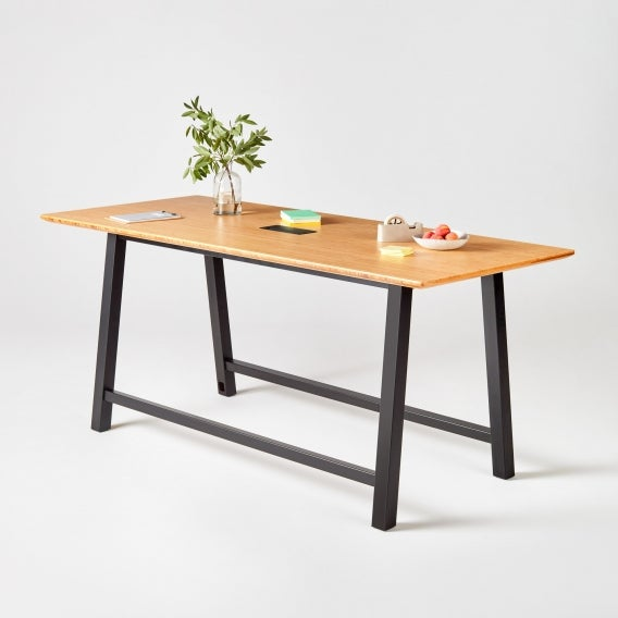Colbe conference bamboo black frame
