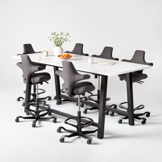 Colbe Laminate Standing-Height Conference Table