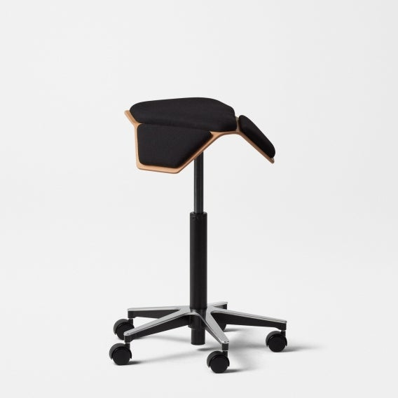 Fully iloa saddle chair black