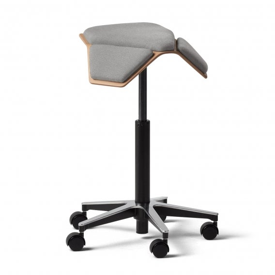 fully iloa saddle chair gray