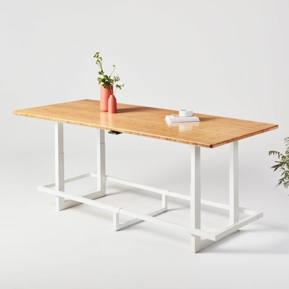 fully jarvis bamboo adjustable height conference table