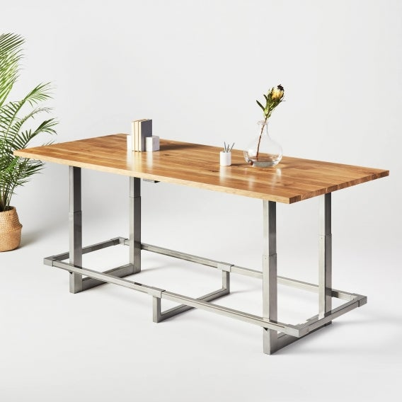 fully jarvis white oak adjustable height conference table