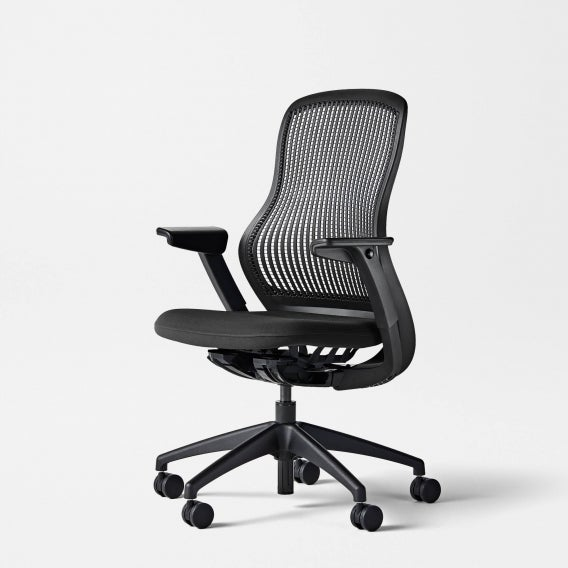 fully knoll regeneration chair onyx back onyx seat