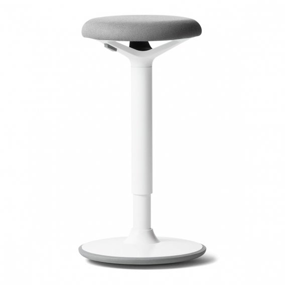 fully luna standing desk stool gray white base