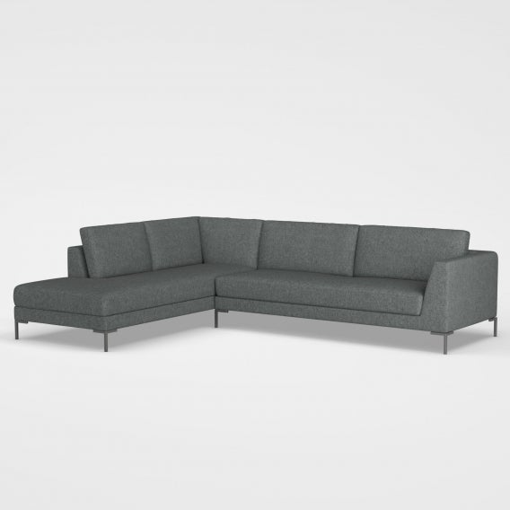 Mckenzie sectional sofa first class slate grey