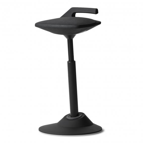 fully muvman factory sit stand stool by aeris in black