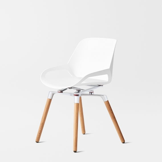 Numo chair white wood base