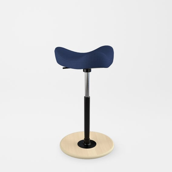 fully move stool by varier revive dark blue