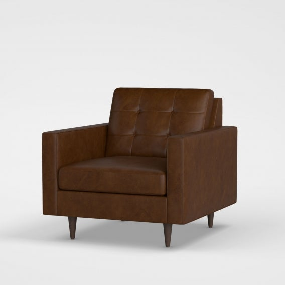 Yamhill lounge chair leather tan