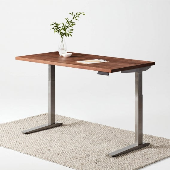 fully jarvis adjustable height desk reclaim chicory alloy frame