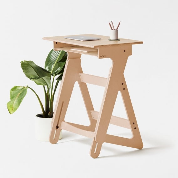 fully jaswig nomad standing desk with laptop and plant