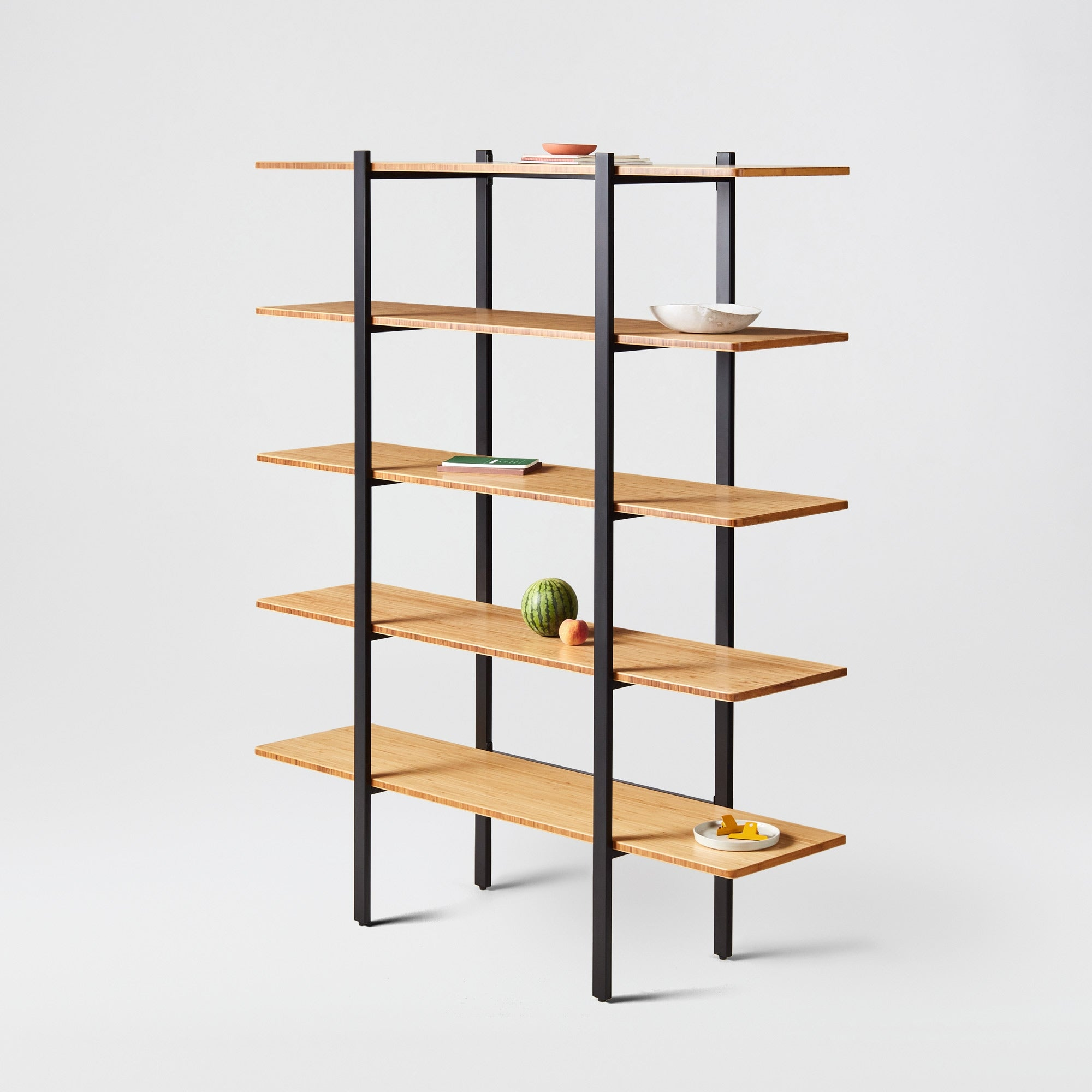 Colbe Bamboo Shelving Unit Fully