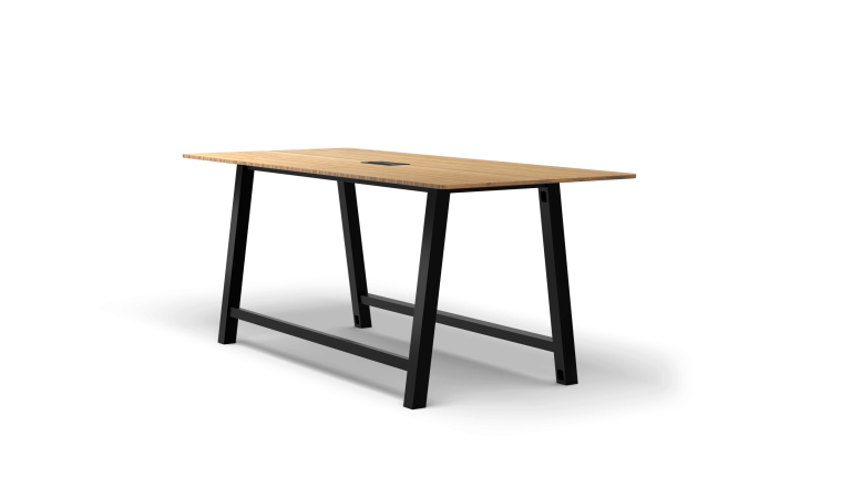 Colbe Bamboo Standing-Height Conference Table Popular Setup 2