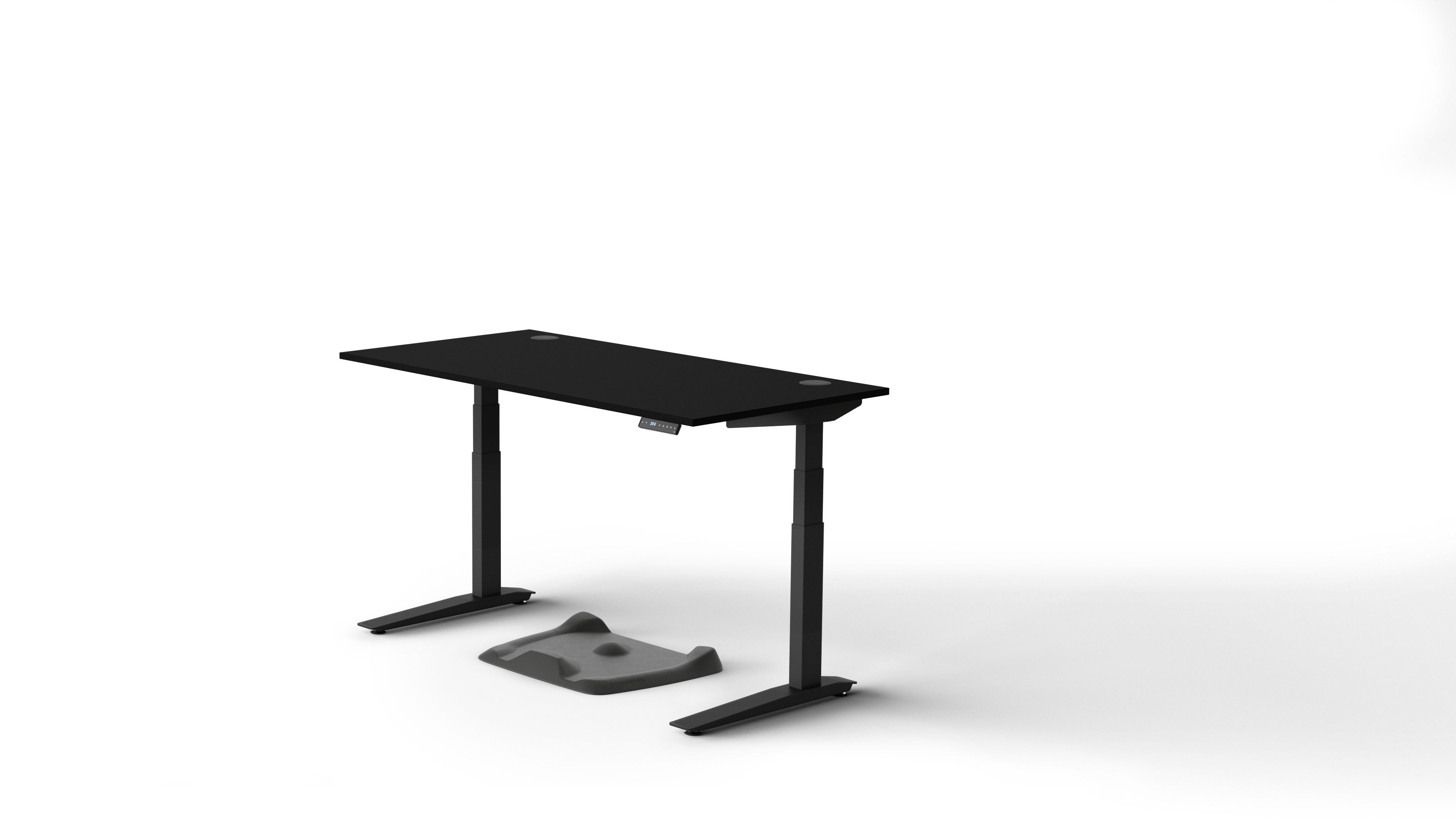 Jarvis Laminate Standing Desk Popular Setup 2