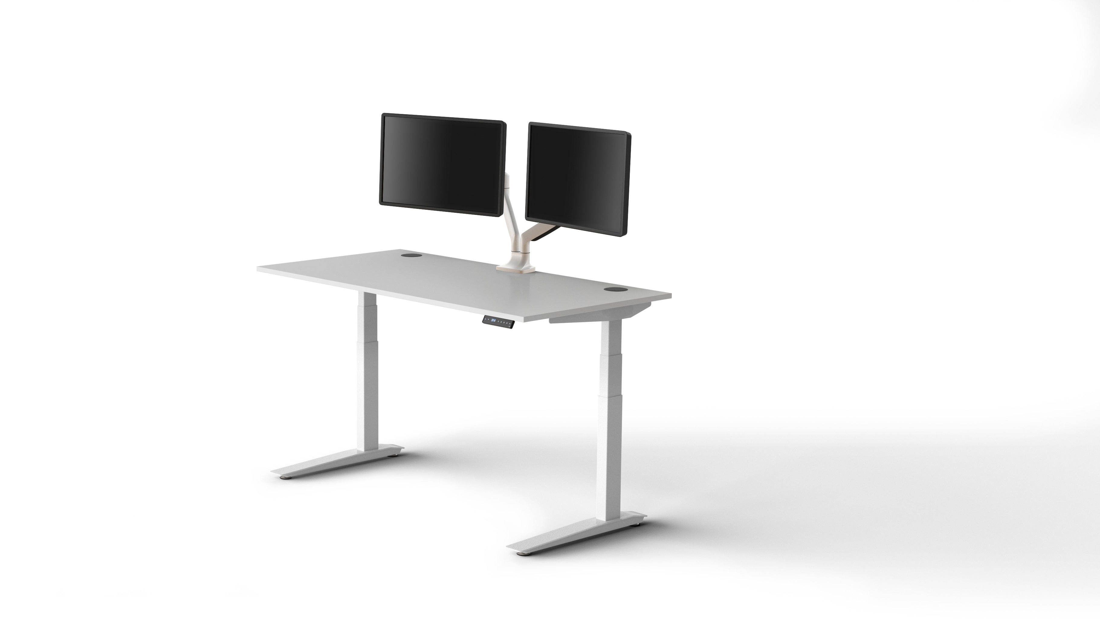 Jarvis Laminate Standing Desk Popular Setup 3
