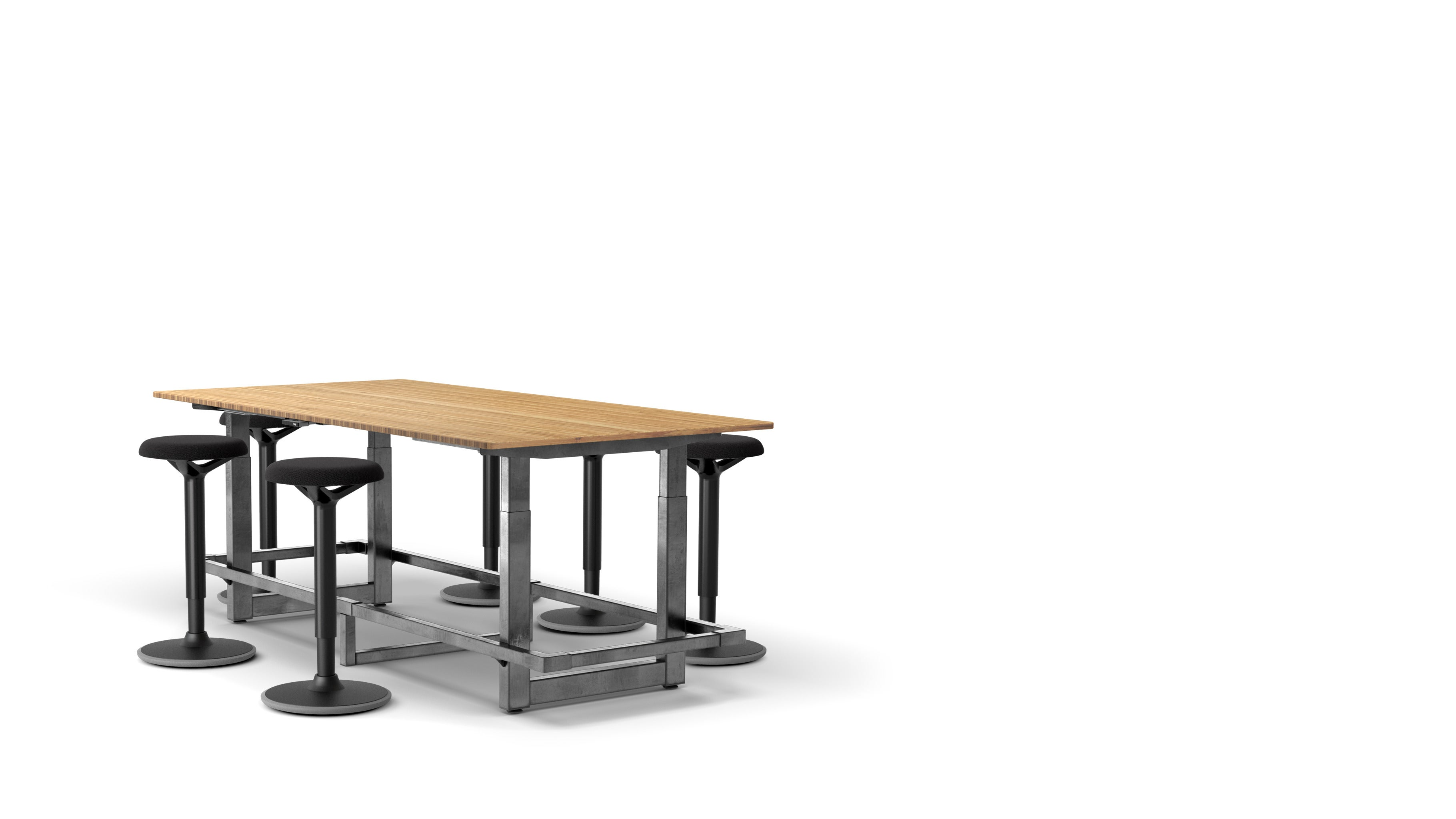 Jarvis Bamboo Adjustable-Height Conference Table Popular Setup 2