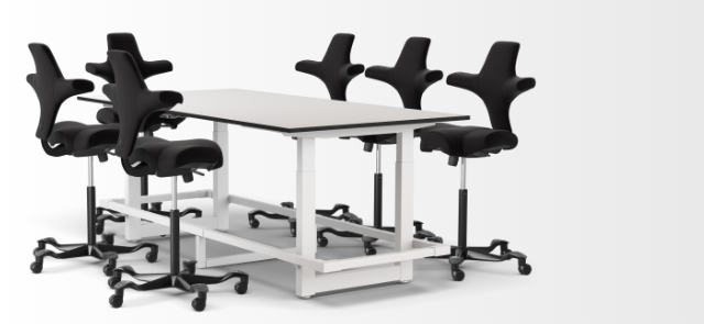 Jarvis Whiteboard Adjustable-Height Conference Table Popular Setup 3