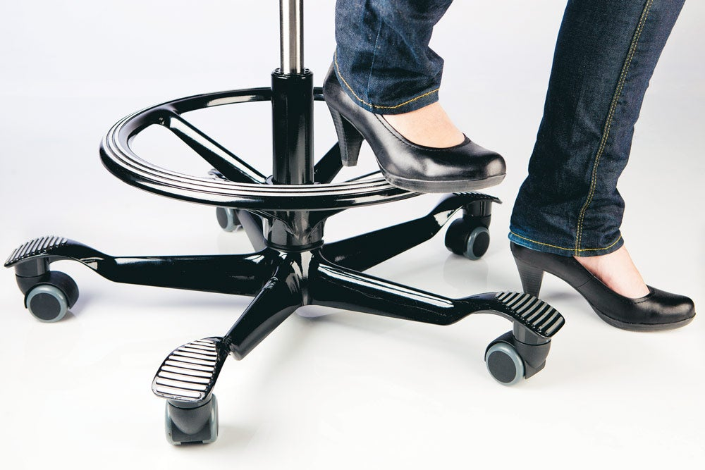 fully capisco chair by hag black footring black base