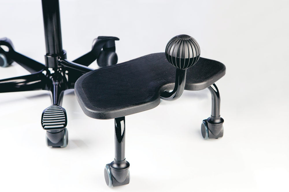 fully capisco chair by hag black step up black base