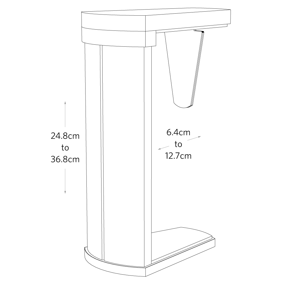 Fully Buddy CPU Holder Dimensions