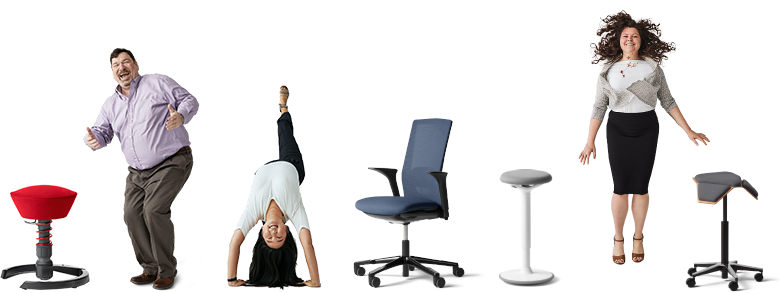 A collection of active sitting chairs from Fully