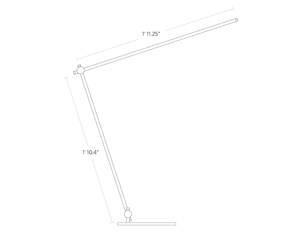 Fully beam LED desk lamp assembly instructions