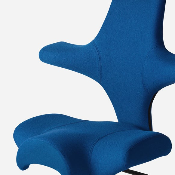 Capisco chair by HAG - era poly upholstery in wash with white base