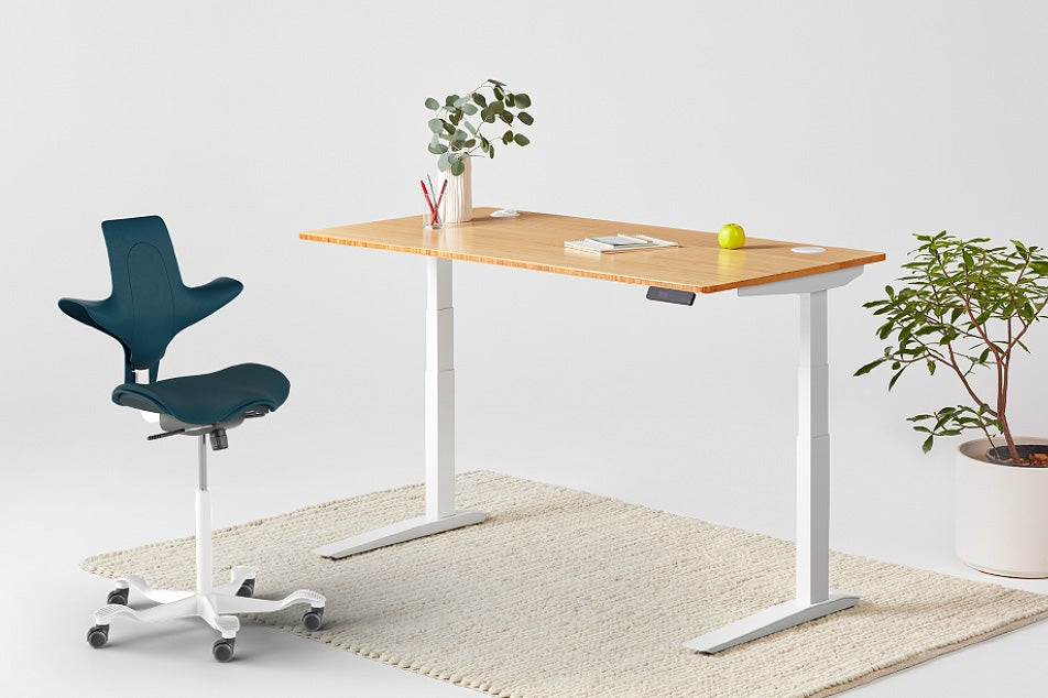 Jarvis Bamboo Standing Desk and Capisco Puls Chair