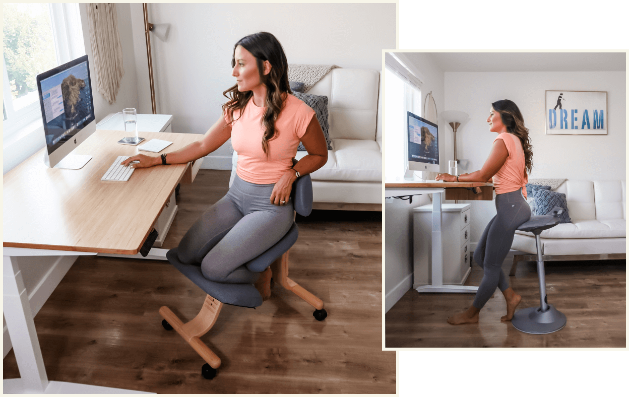 Dr Jen Fit home office Fully Balans Kneeling Chair and Muvman