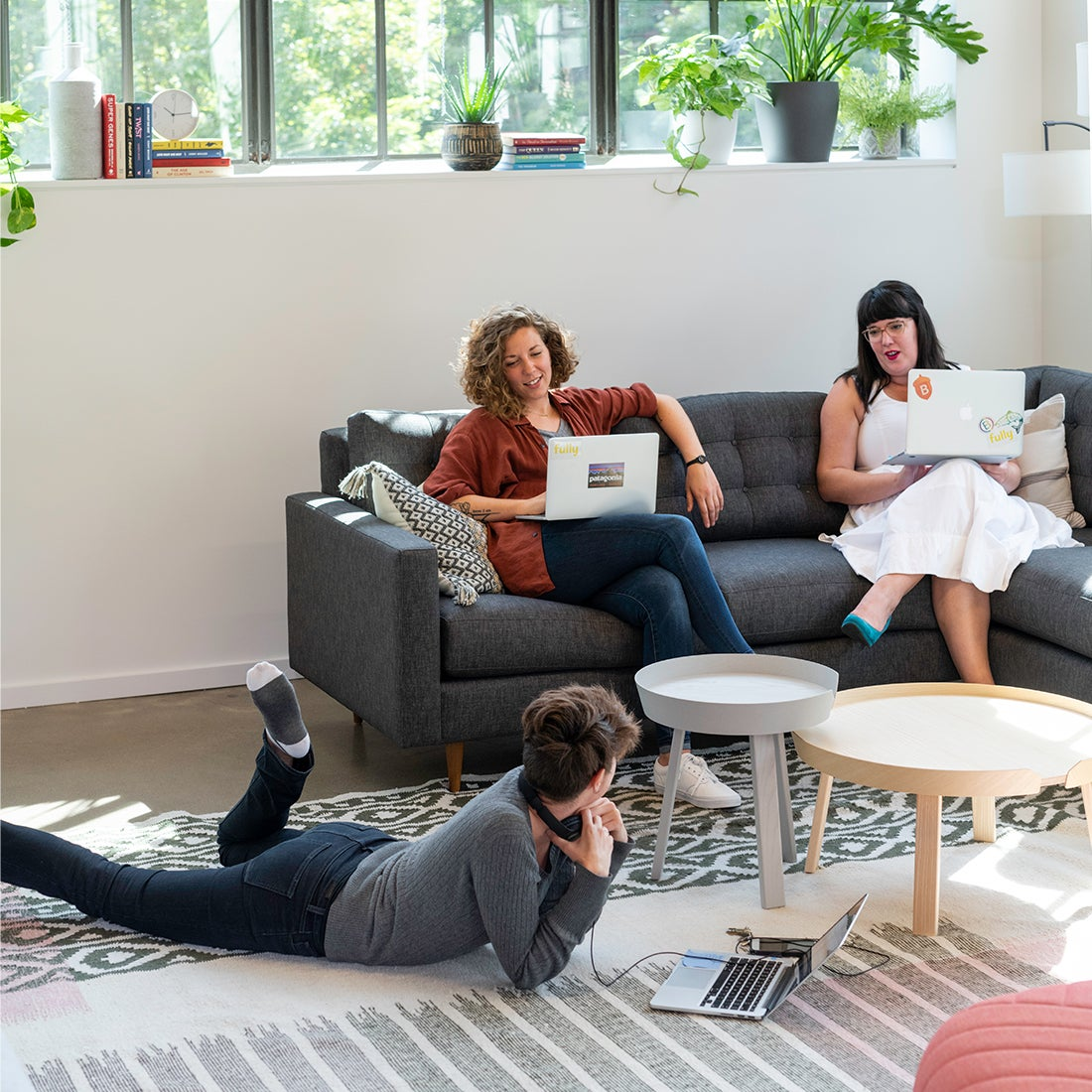 A group of people collaborating in a resimercial environment