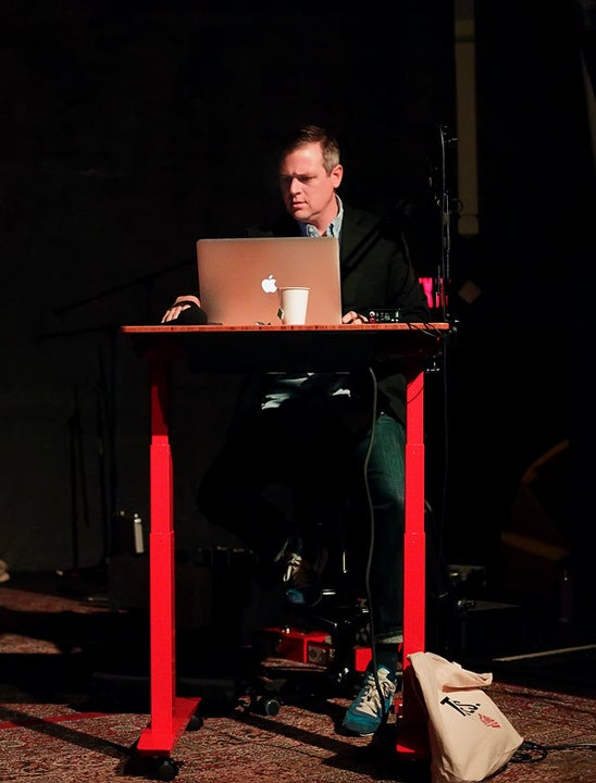 Live Wire main speaker at Red Jarvis Standing desk