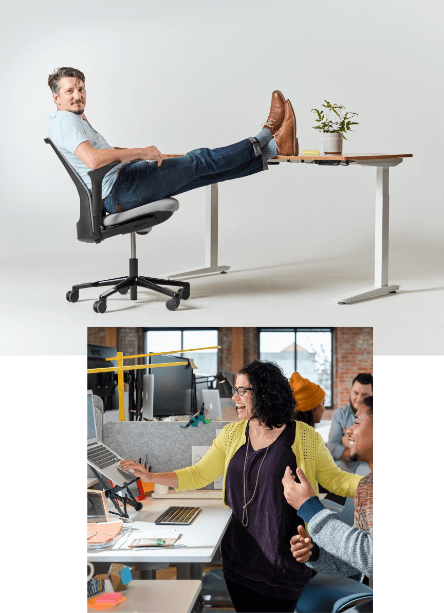 fully movement jarvis standing desk futu desk chair