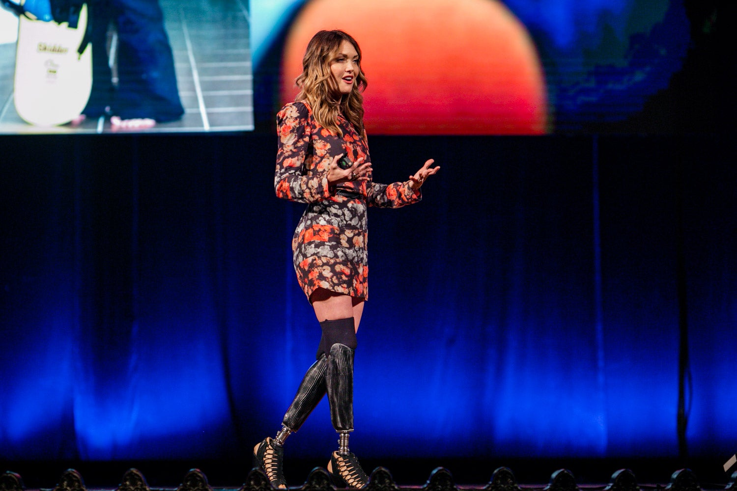 Amy Purdy takes the stage at the Summit of Greatness to talk about being extraordinary