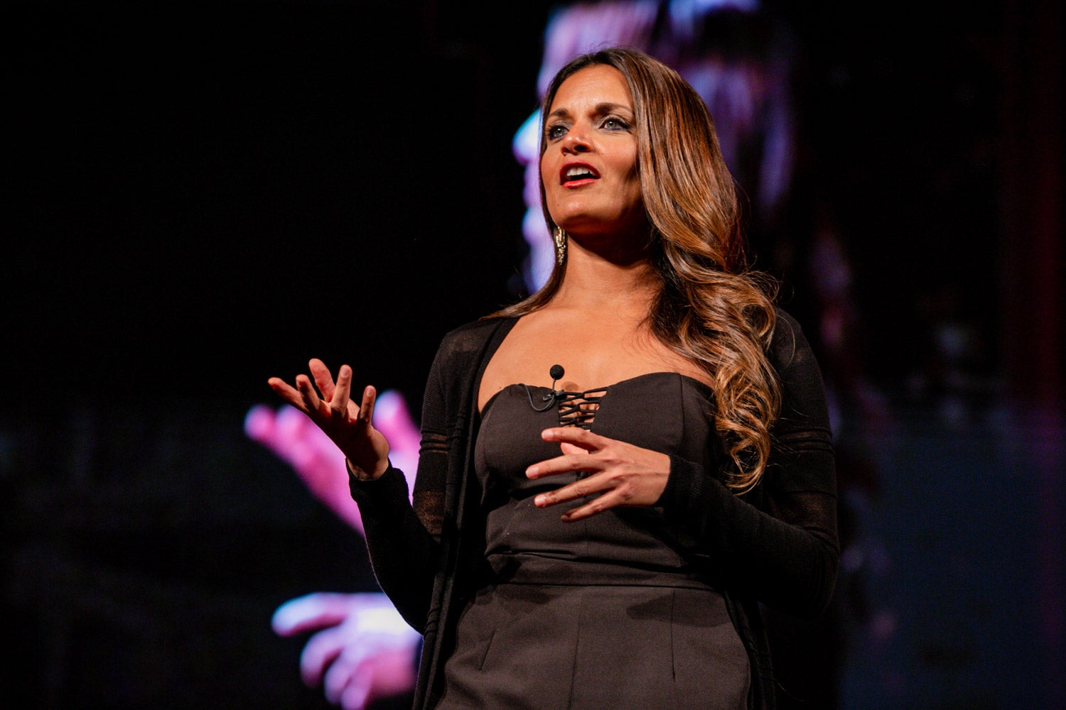 Dr. Shefali Tsabary on stage at Summit of Greatness speaking on conscious parenting