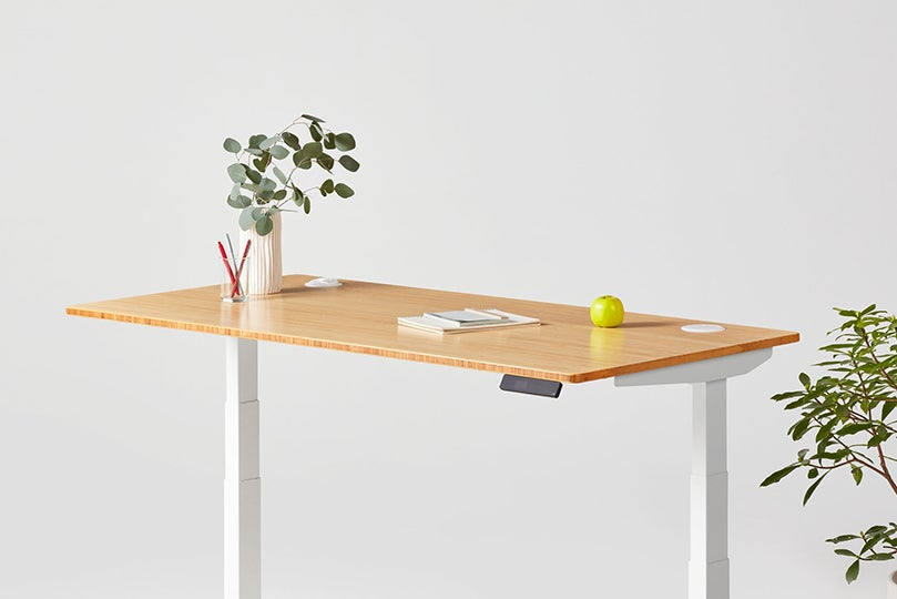 Jarvis Bamboo Rectangle standing desk